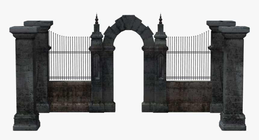 #freetoedit #stone #arch - Cemetery Wall 3d Free, HD Png Download, Free Download