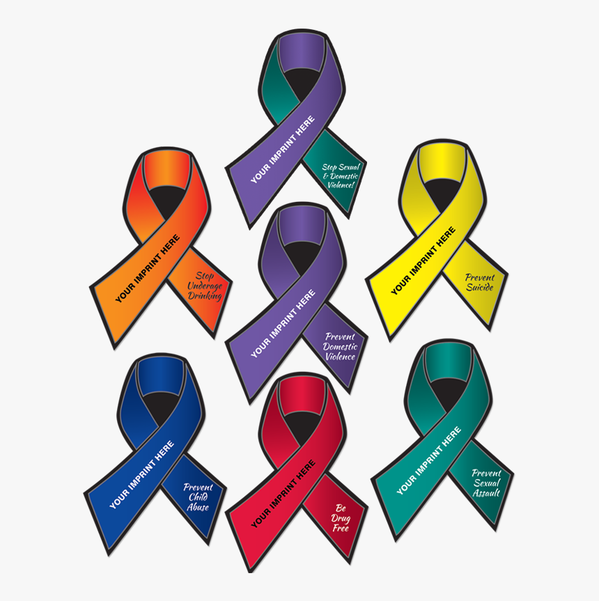 Distracted Driving Awareness Ribbon Clipart , Png Download - Distracted Driving Awareness Ribbon Color, Transparent Png, Free Download