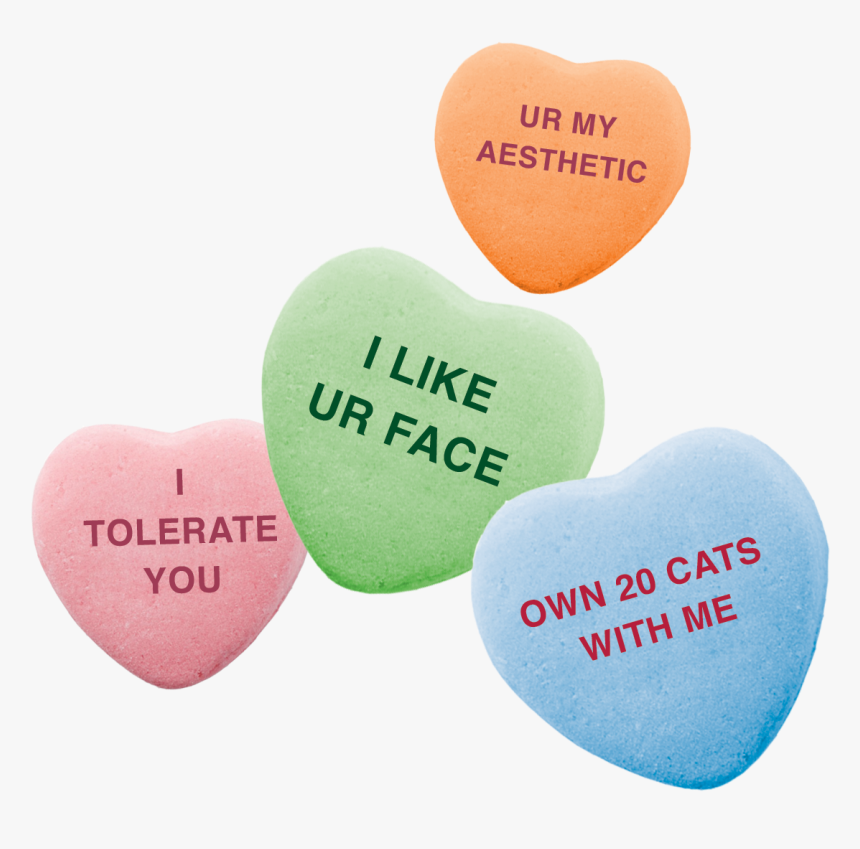 Candy Heart Aesthetic Png, Transparent Png, Free Download