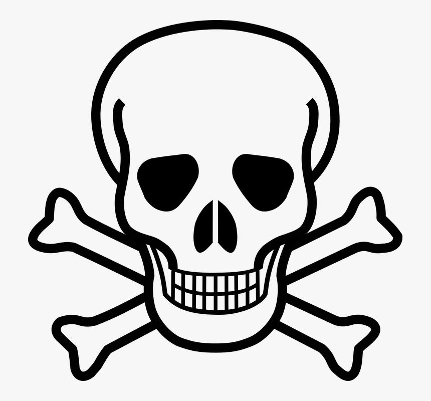 Skull And Crossbones, Skull, Crossbones, Danger, Death - Clip Art Skull And Crossbones, HD Png Download, Free Download