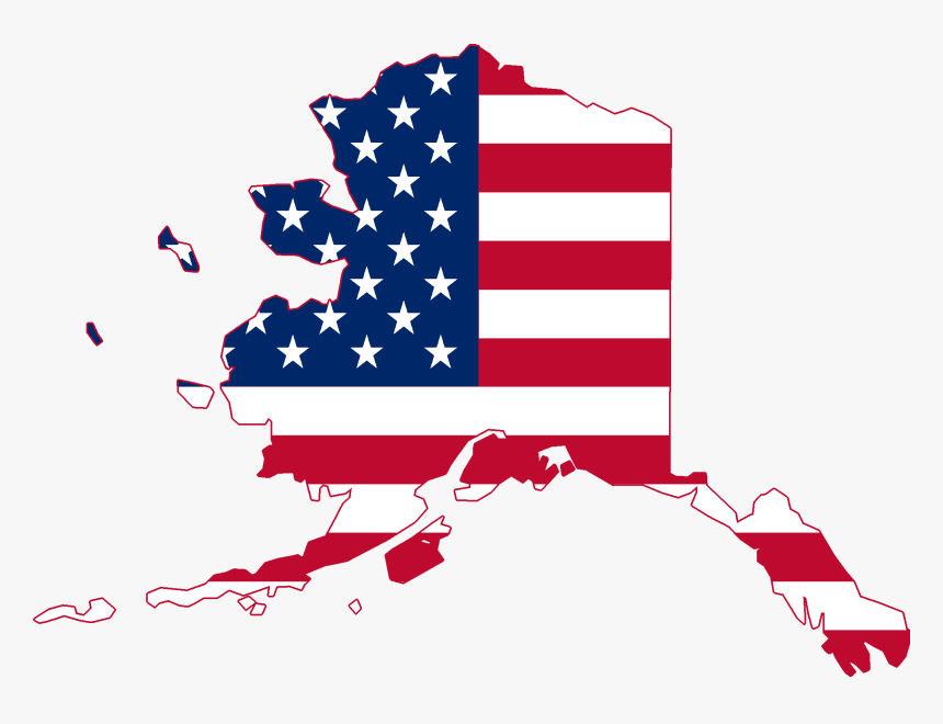 Flag Map Of Alaska - African American 4th July, HD Png Download, Free Download