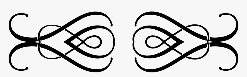 Facial Expression,eye,line And White - Fancy Transparent Line Divider Clipart, HD Png Download, Free Download