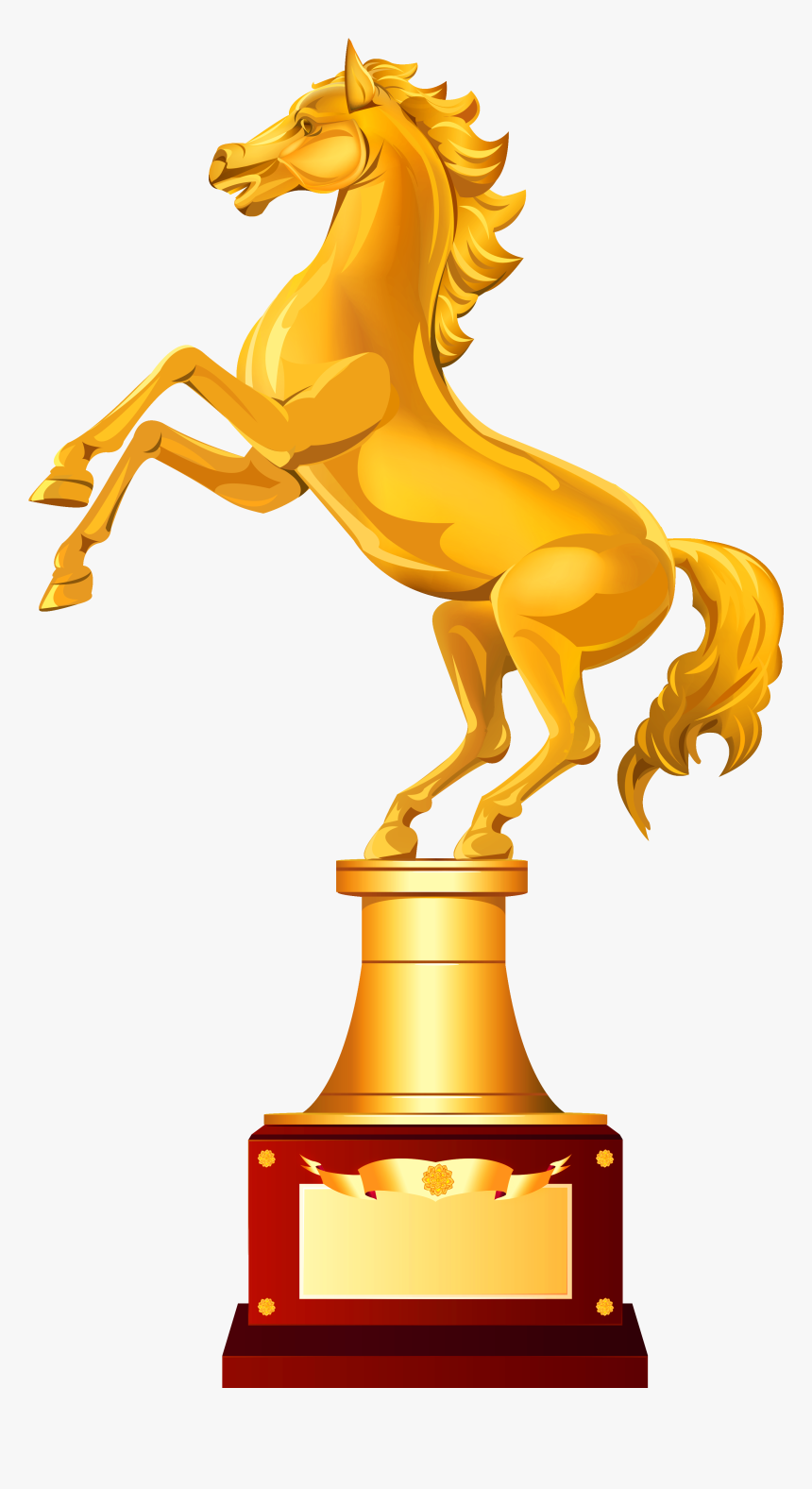 Trophy Free Download Png - Horse Trophy Clipart, Transparent Png, Free Download