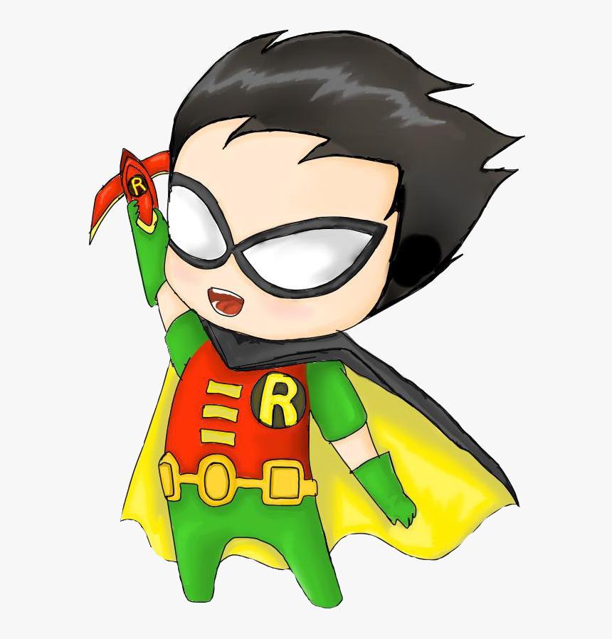 Robin Nightwing Batman Damian Wayne Superman - Transparent Cute Superman Chibi, HD Png Download, Free Download
