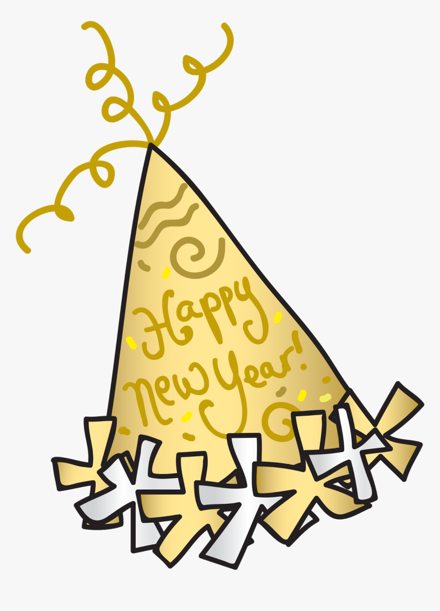 Party Hat Happy New Year Clipart Years Eve Transparent - Happy New Year Party Hat Clipart, HD Png Download, Free Download