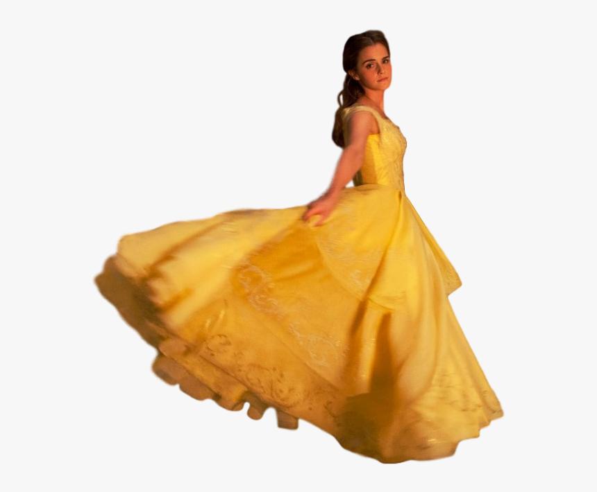 Belle Beast Dress Costume Cosplay - Emma Watson Full Body, HD Png Download, Free Download