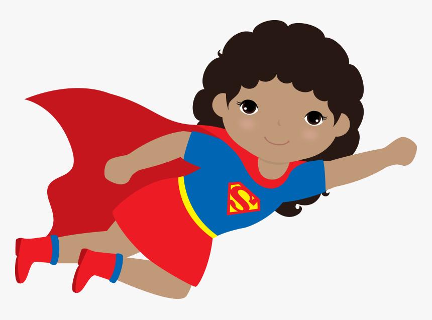 Transparent Supergirl Clipart - Clip Art Kid With A Cape, HD Png Download -  kindpng