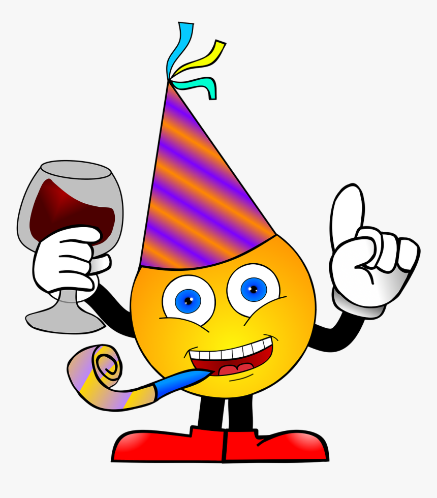 "Smiley, Party, Anniversary, New Year""s Eve, Neujahre - Birthday Wishes Your Self, HD Png Download, Free Download"