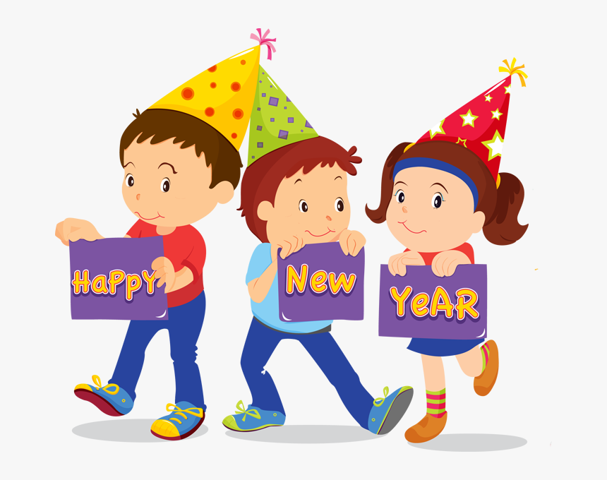School New Year Clip Art - New Years Kids, HD Png Download, Free Download