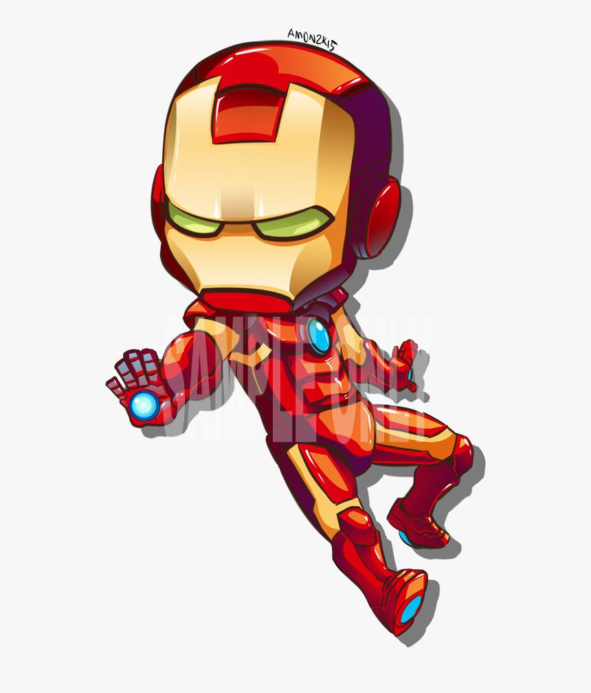 Transparent Iron Man Png - Cartoon Iron Man Drawing, Png Download, Free Download