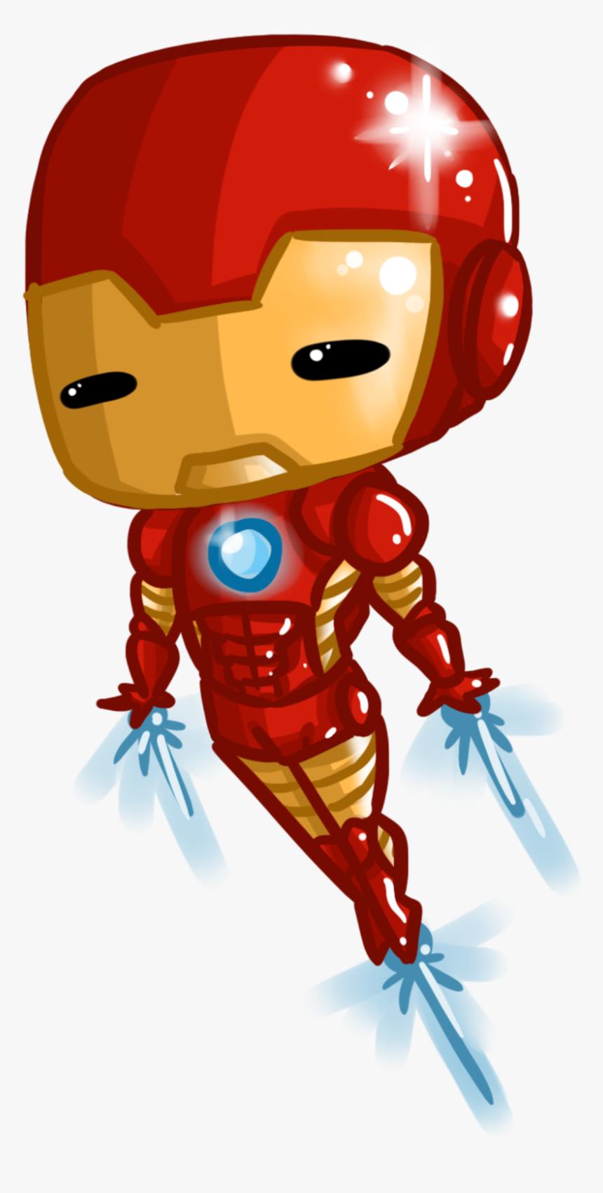 Transparent Man Clipart - Iron Man Chibi Drawing, HD Png Download, Free Download
