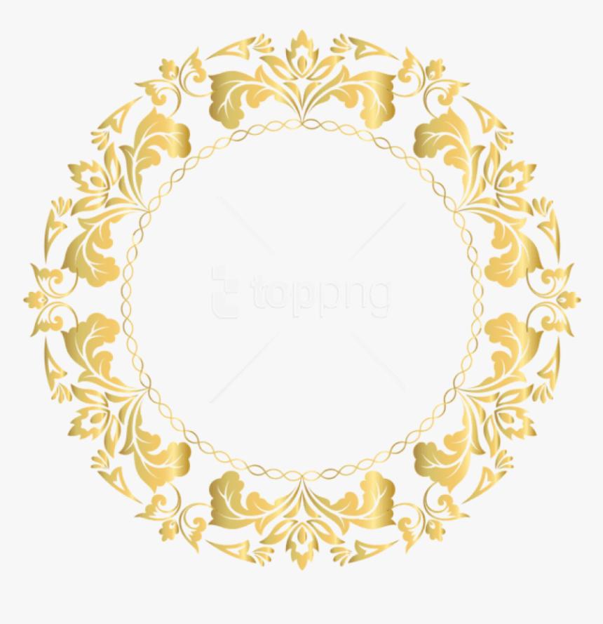 Transparent Gold Frame Clipart Free - Gold Border Design Png, Png Download, Free Download
