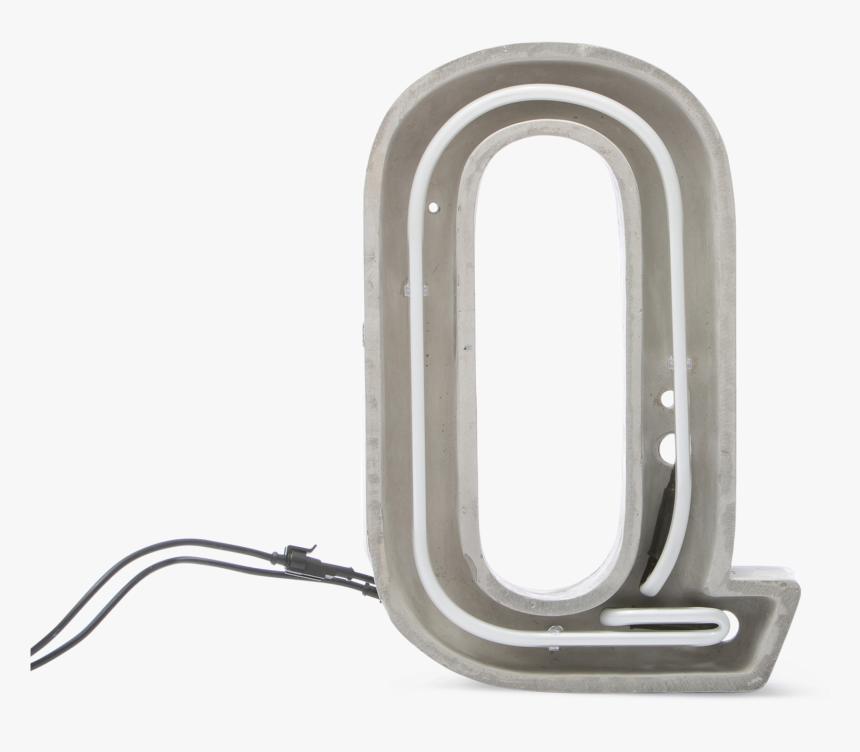 Alphacrete, Concrete Neon Light Q-0 - Iron, HD Png Download, Free Download
