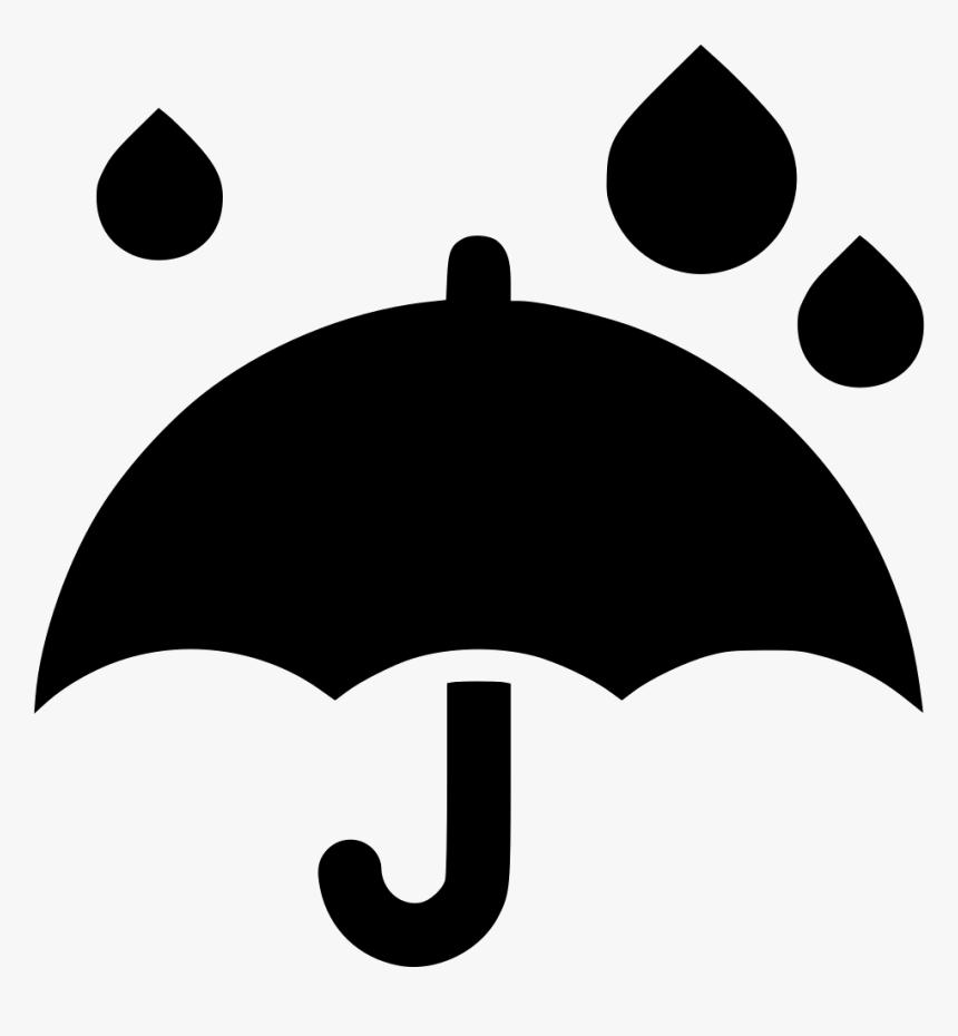 Umbrella Rain Drops - Rain Umbrella Clipart Black And White, HD Png Download, Free Download