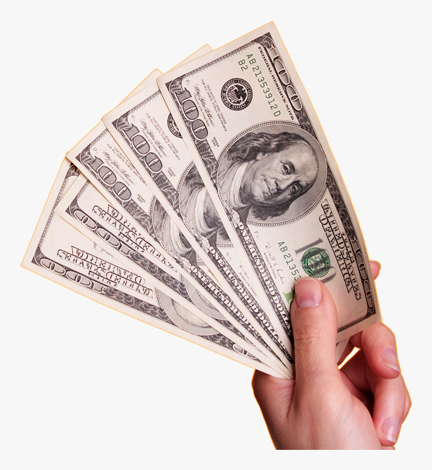 Transparent Hand Money Png - 100 Dollar Bill, Png Download, Free Download