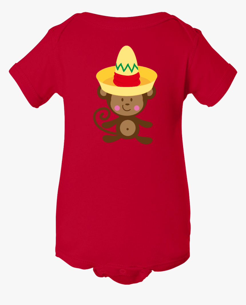Cinco De Mayo Monkey Infant Creeper Has Big Yellow - Anime Babies Cloth, HD Png Download, Free Download