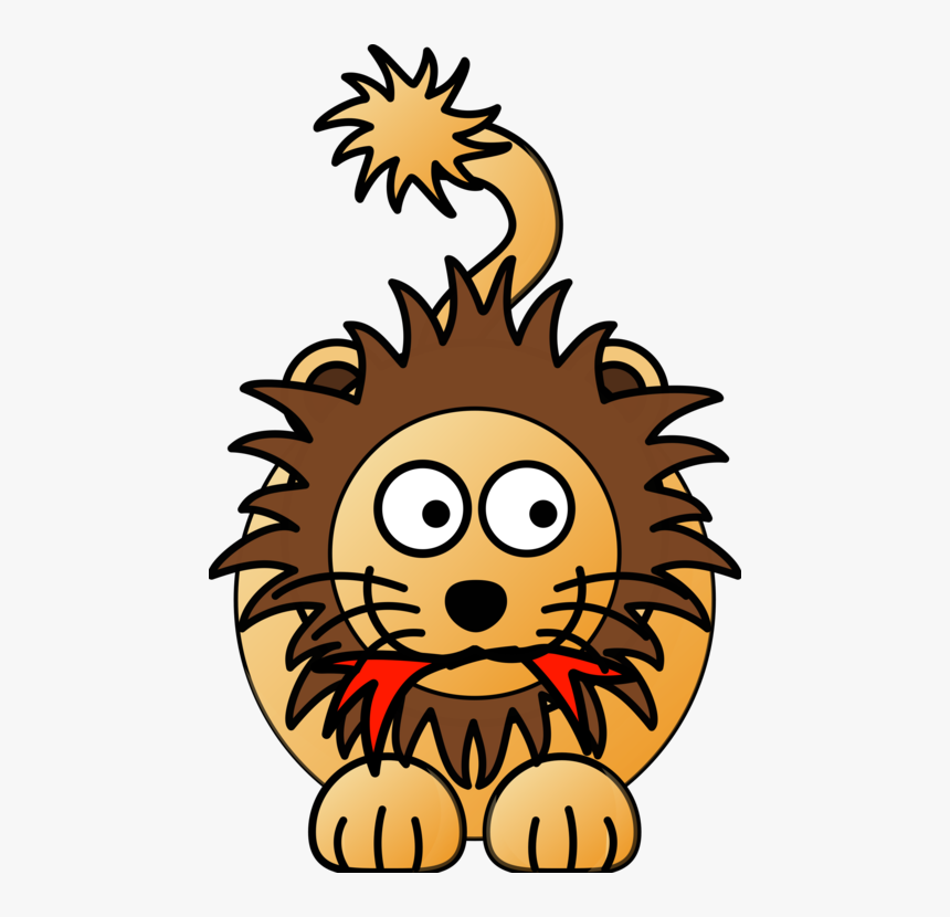 Lion Cartoon Clip Art, HD Png Download, Free Download