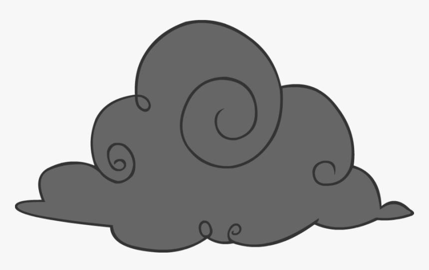 Cartoon Storm Cloud - Black Clouds Clipart, HD Png Download, Free Download