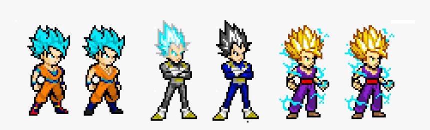 Clip Art Z Sprites Re Edited - Goku Super Saiyan Green, HD Png Download, Free Download