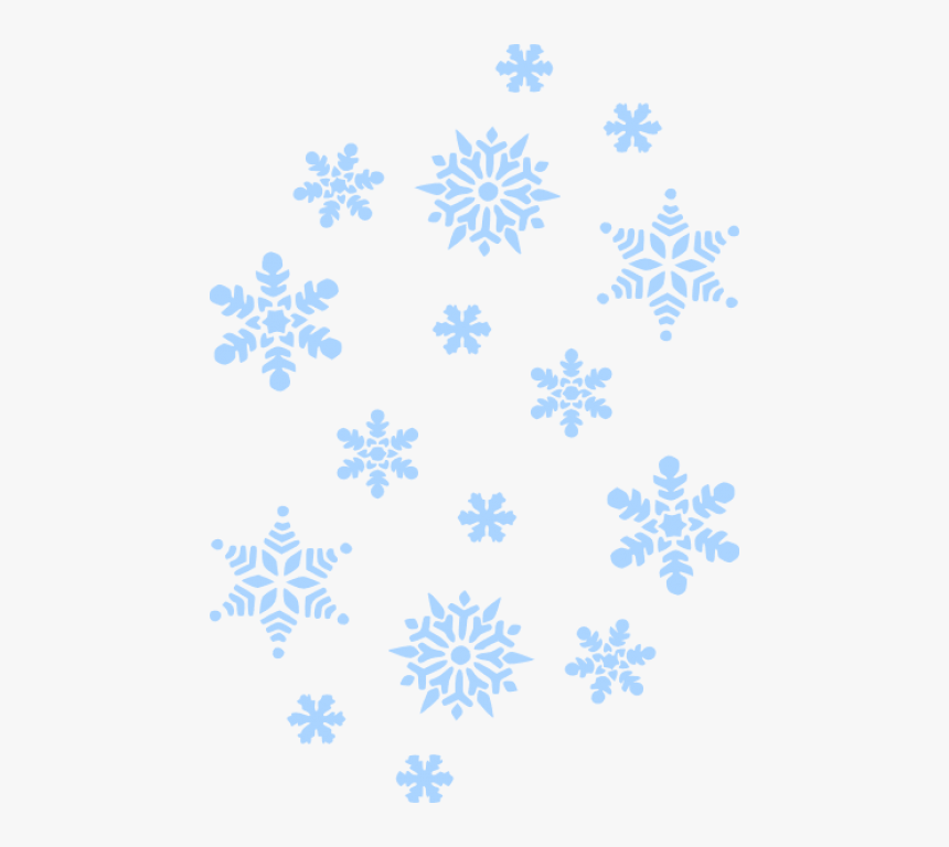 Free Png Download Blue Snowflakes Falling Png Images - White Snowflakes Black Background, Transparent Png, Free Download