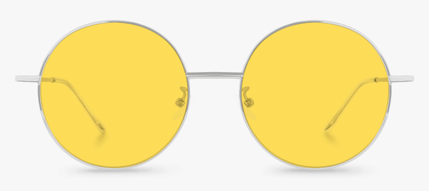 Transparent Round Sunglasses Png - Yellow Round Glasses Png, Png Download, Free Download