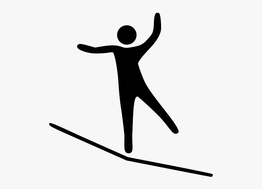 Tightrope Walking Sense Of Balance Slacklining Computer - Slackline Icon Png, Transparent Png, Free Download