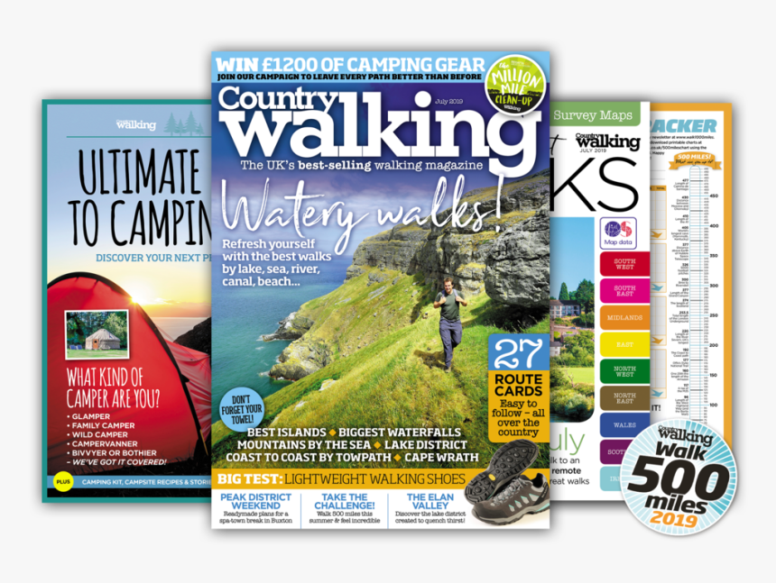 July Issue Splay - Walking And Hiking Magazines, HD Png Download, Free Download