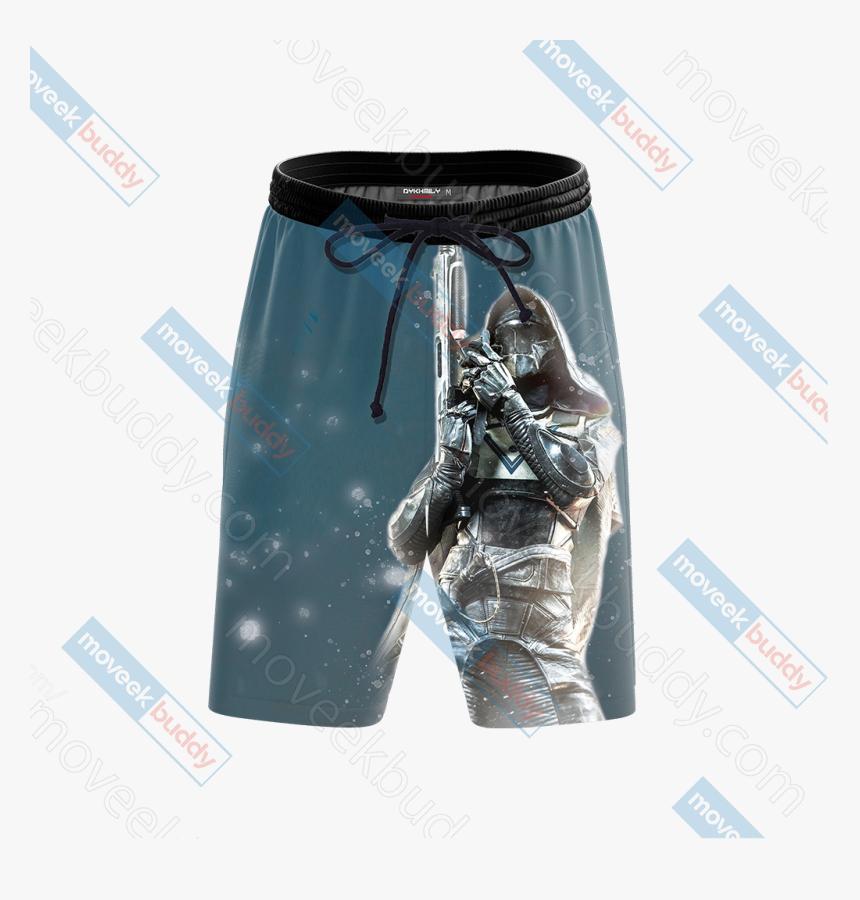 Destiny 2 Hunter Class 3d Beach Shorts, HD Png Download, Free Download