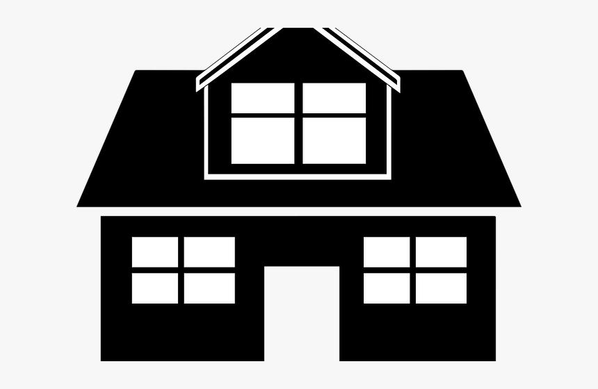 Transparent Construction Clipart Black Transparent Background House Png Png Download Kindpng