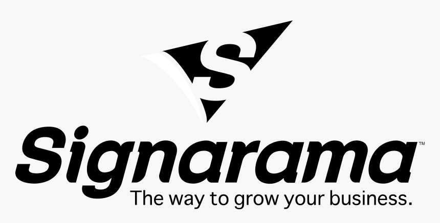 Signarama Icon Centered Logo Tag Cmyk Logo Black And - Signarama, HD Png Download, Free Download