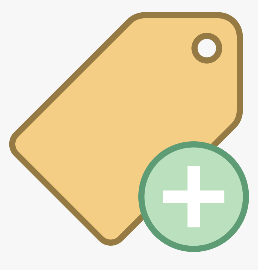 This Image Represents Adding A Tag - Cross, HD Png Download, Free Download