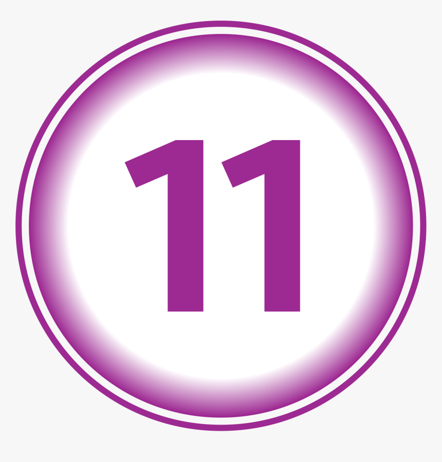 How To Calculate Soul Urge Number - Number 11 In Purple, HD Png Download, Free Download