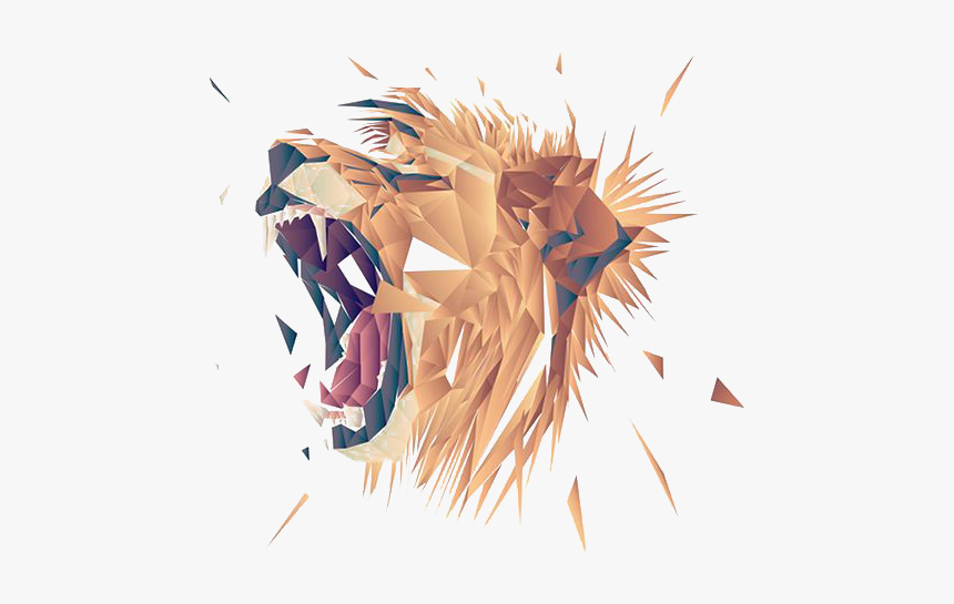 Lion Roaring Graphic Design, HD Png Download, Free Download