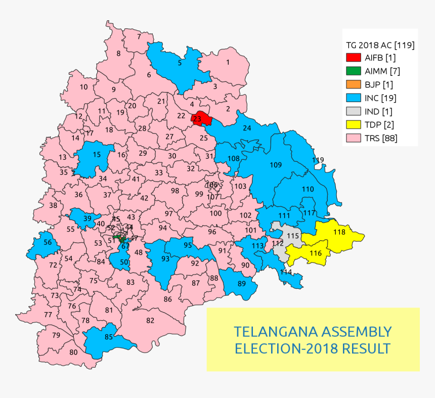 Telangana Election Results 2019, HD Png Download, Free Download