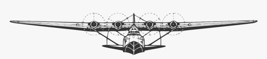 Flying Boat Clipart, HD Png Download, Free Download