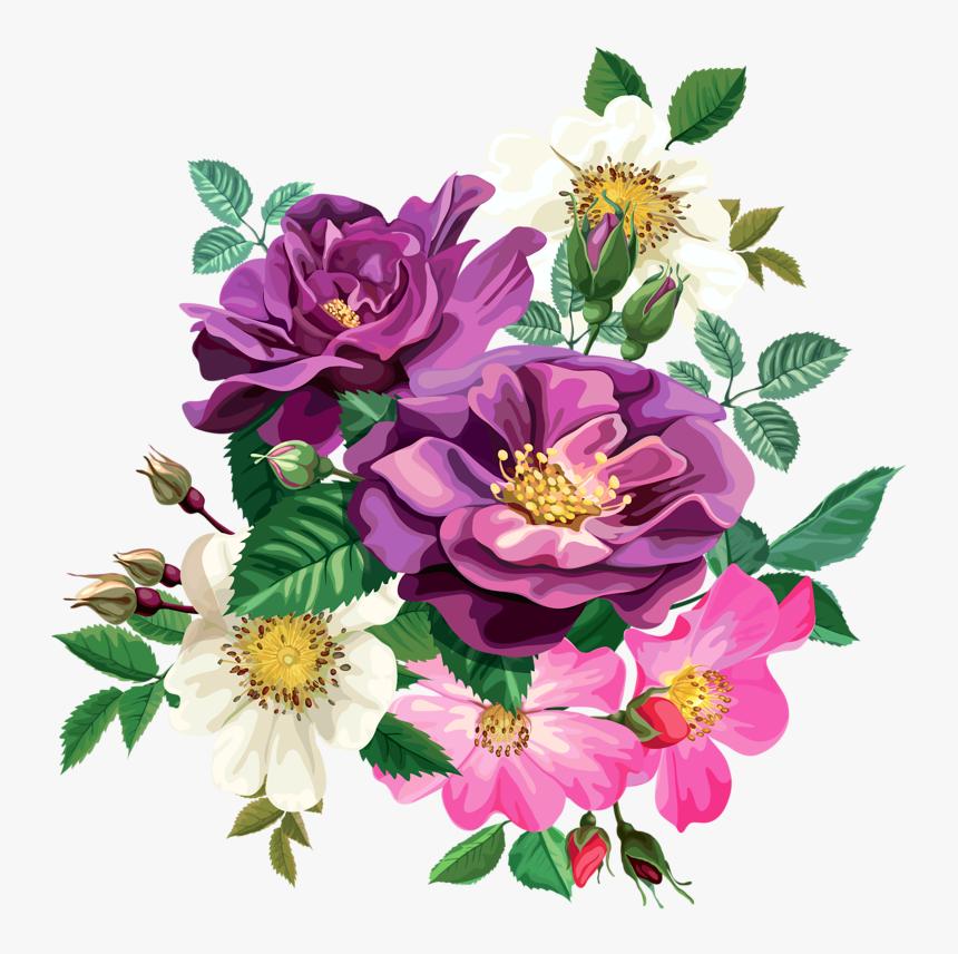 Flower Cliparts Transparent Floral Design - Transparent Background Flower Png, Png Download, Free Download
