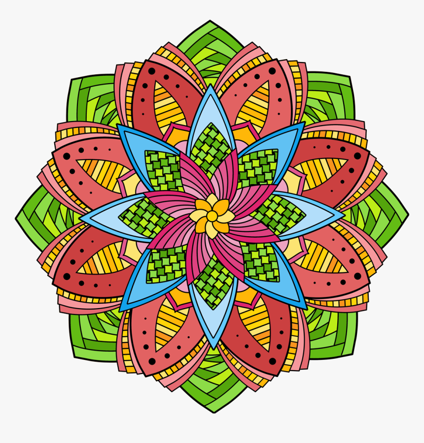 Color Mandala Png - Mandala Design Colored Png, Transparent Png, Free Download