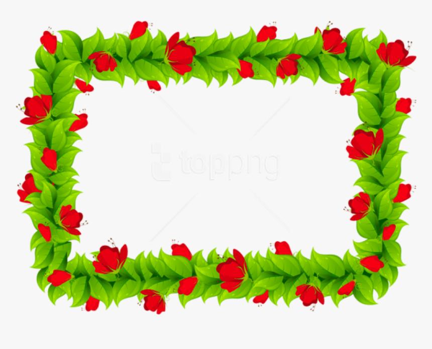 Free Png Download Floral Border Frame Clipart Png Photo - Frame Design Colorful Border, Transparent Png, Free Download