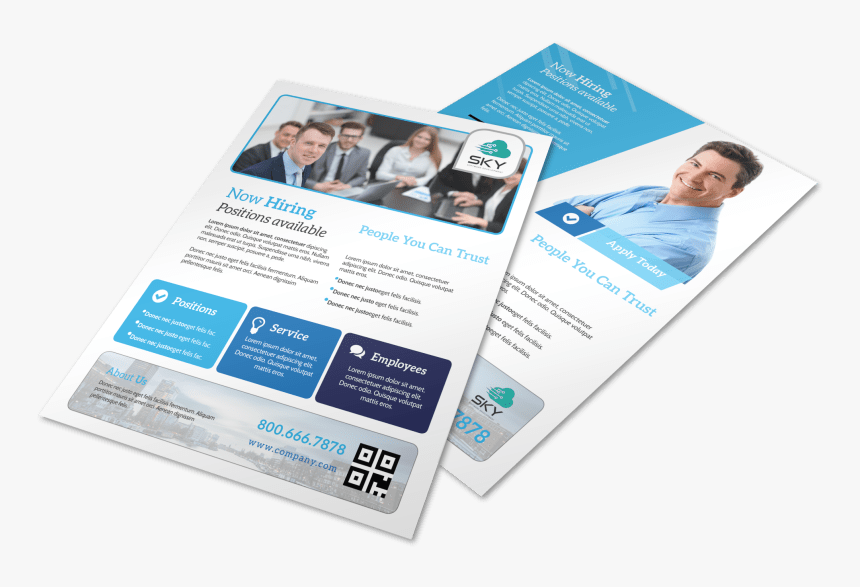 Professional Now Hiring Flyer Template Preview - Hiring Flyer, HD Png Download, Free Download