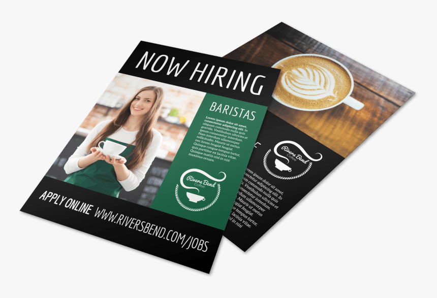 Now Hiring Baristas Flyer Template Preview - Flyer, HD Png Download, Free Download