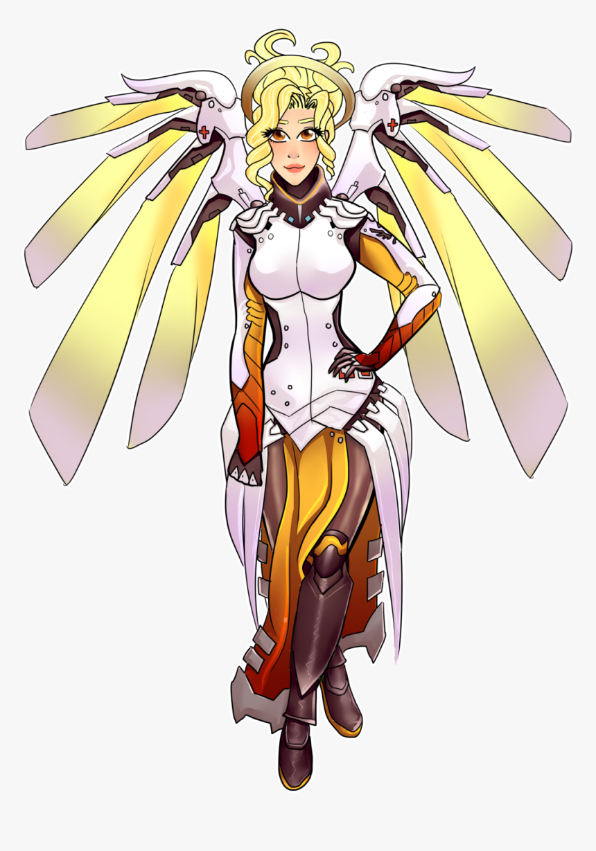 Transparent Mercy Png Mercy Overwatch Fanart Transparent Png Download Kindpng