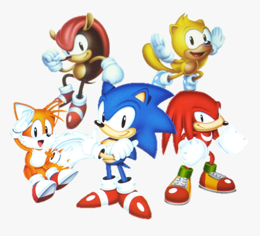 Sonic Mania Knuckles Png Jpg Library Stock - Sonic Mania Sonic Tails  Knuckles Mighty Ray, Transparent Png - Kindpng