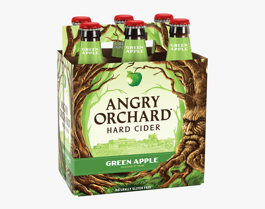 Angry Orchard Green Apple, HD Png Download - kindpng