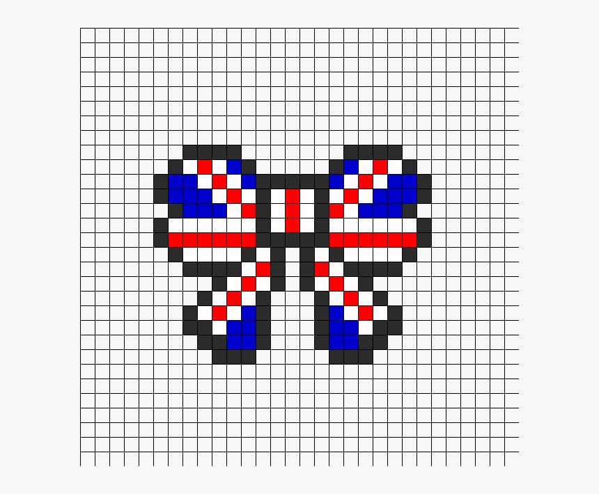 Union Jack British Flag Bow Perler Perler Bead Pattern - Minecraft Death Star Pixel Art, HD Png Download, Free Download