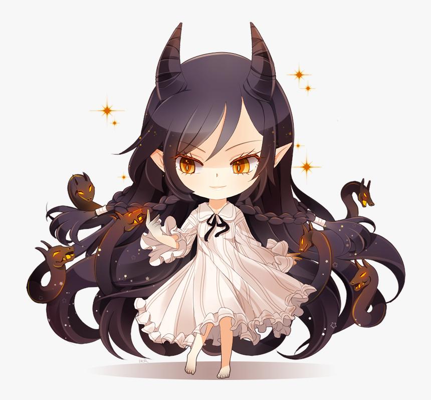 Anime Anime Girl Cute Girl Little Demon Demon Girl Cute Chibi Devil Girl Hd Png Download Kindpng