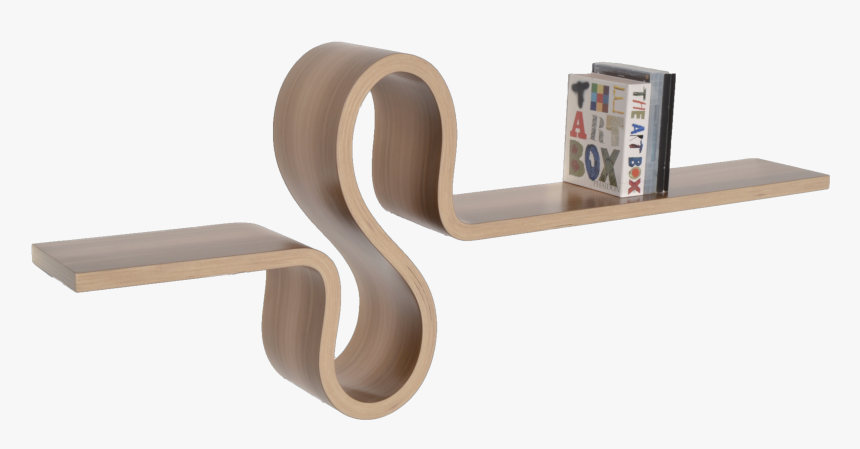 Curved Wooden Shelf, HD Png Download, Free Download