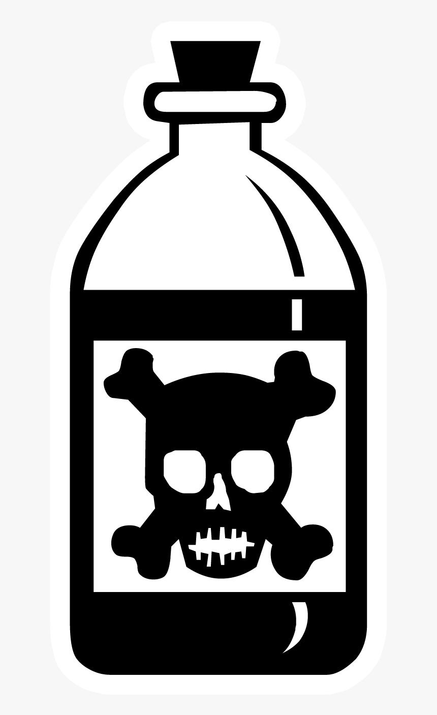 Poison Png - Poison Bottle Skull And Crossbones, Transparent Png, Free Download