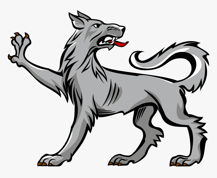 Wolf Clipart Heraldic Coat Of Arms Dog Symbols Hd Png