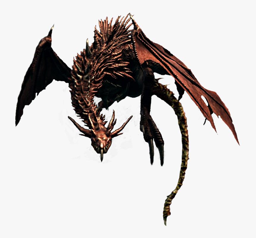 Download Flying Dragon Png File - Dragon Dark Souls Png, Transparent Png, Free Download