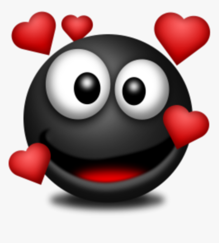 Transparent Red Heart Emoji Png - Black In Love Emoji, Png Download, Free Download